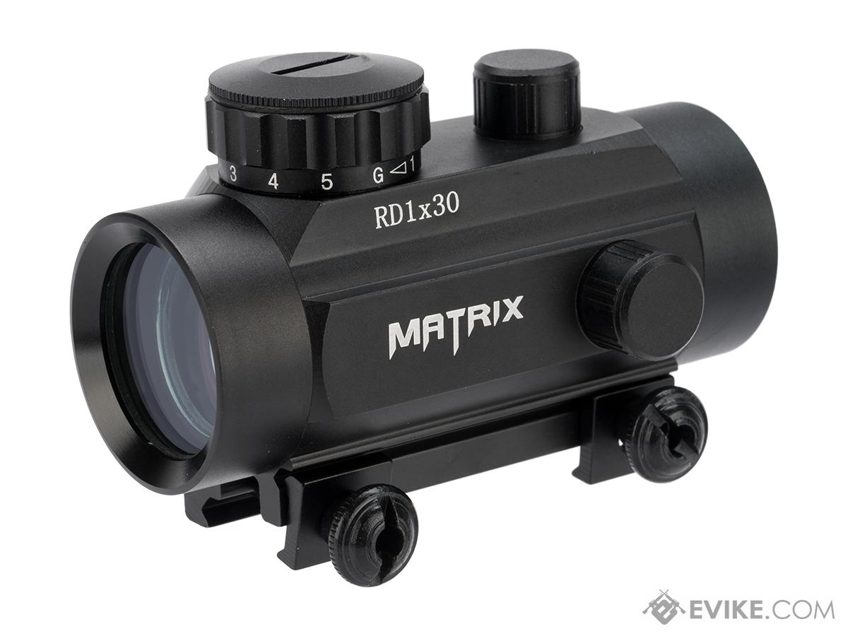 Matrix 1x30 Military Style Illuminated Red / Green Dot Sight Scope w/ QD Weaver Base