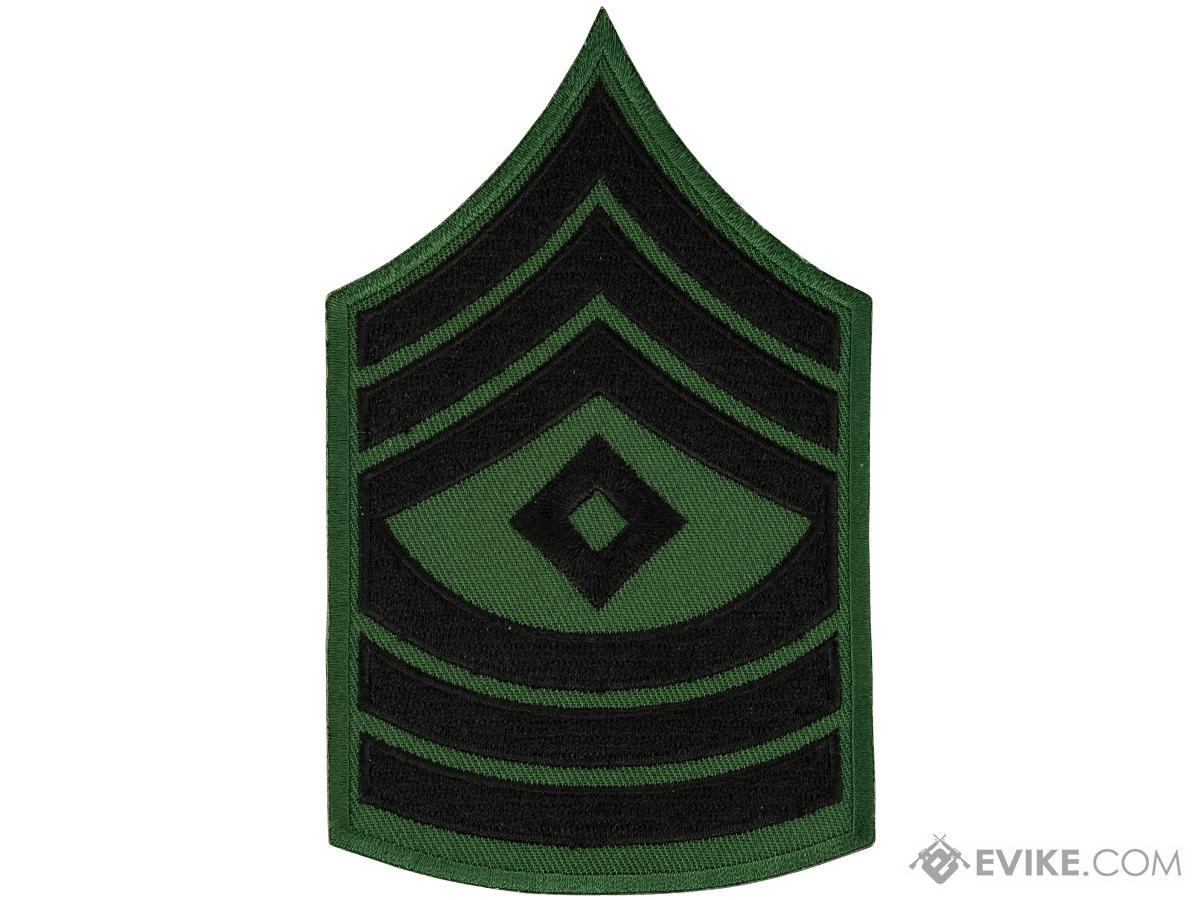 Matrix Military Ranking Embroidery Patch - First Sergeant