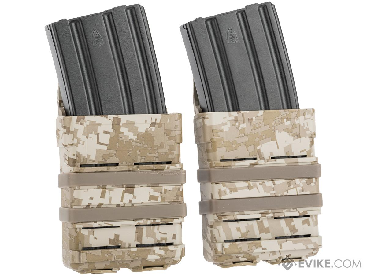 Avengers Fast Hard Shell Magazine Holster - 2x Rifle Mag Configuration (Digital Desert)