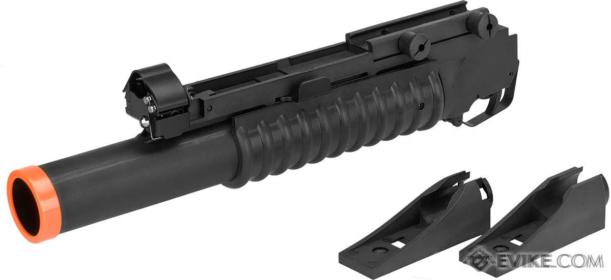 Matrix Speed 40mm M203 Grenade Launcher for M4 M16 Series Airsoft Rifles (Model: Long Type / Black)