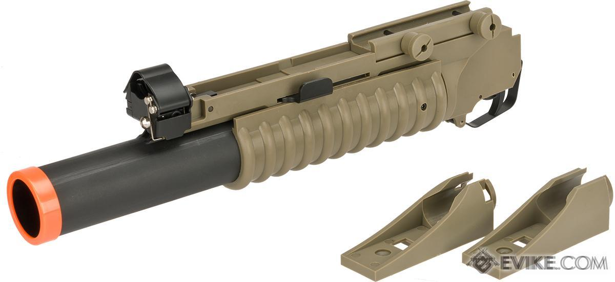 Matrix Speed M203 Grenade Launcher for M4 M16 Series Airsoft Rifles (Model: Long Type / Desert)