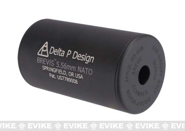 Madbull Delta P Design BREVIS Airsoft Barrel Extension - Black