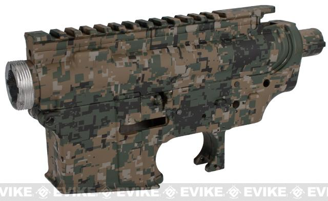 DYTAC Metal Receiver for M4 / M16 Series Airsoft AEG Rifles - Digital Woodland