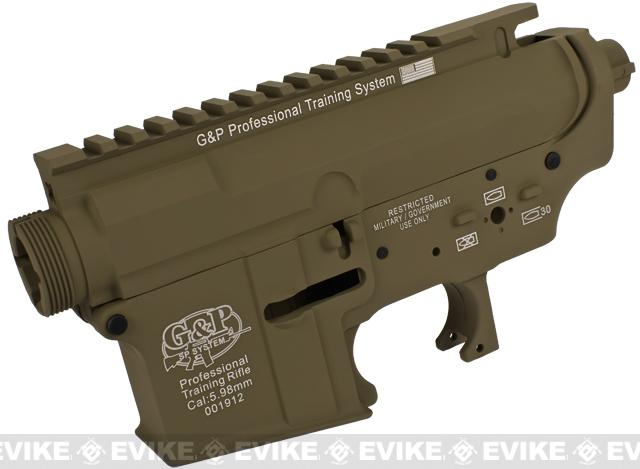 G&P Advanced Type Aircraft Aluminum Metal Receiver for M4 M16 Series Airsoft AEG Rifles - Dark Earth