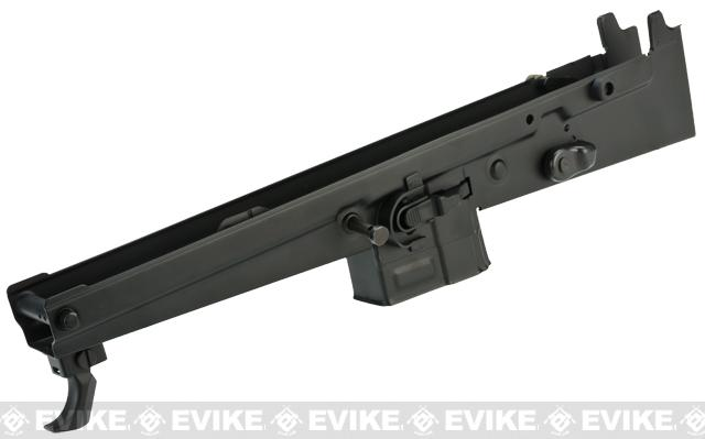 ICS Laser Engraved Stamped Steel Receiver For L85 Series Airsoft AEG - Black