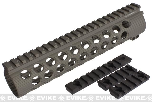 Madbull Airsoft Official Licensed Troy Industries TRX Battle Rail 9 for Airsoft M4/M16 Series AEGs - Dark Earth