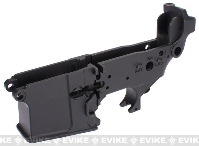 WE Metal Lower Receiver for WE PDW Series Airsoft Gas Blowback Rifles - Black