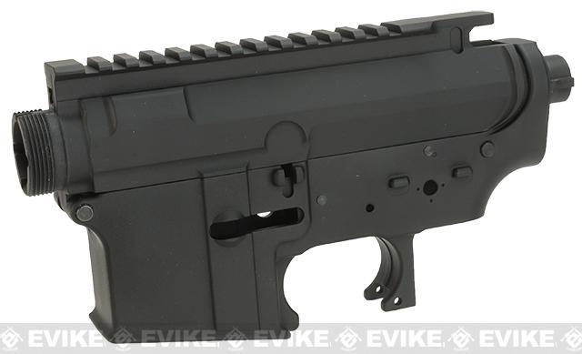 G&P Advanced Type Aircraft Aluminum Metal Receiver for M4 M16 Series Airsoft AEG Rifles - Black (Blank)
