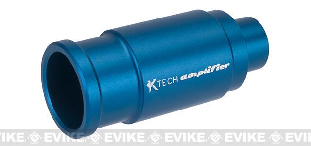 K-Tech Airsoft Machined Aluminum Airsoft Amplifier - Matte Blue (14mm Negative)