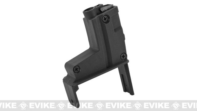 ICS Magazine Adapter for ICS Adaptive Airsoft AEG Drum Magazine - MP5 / Black