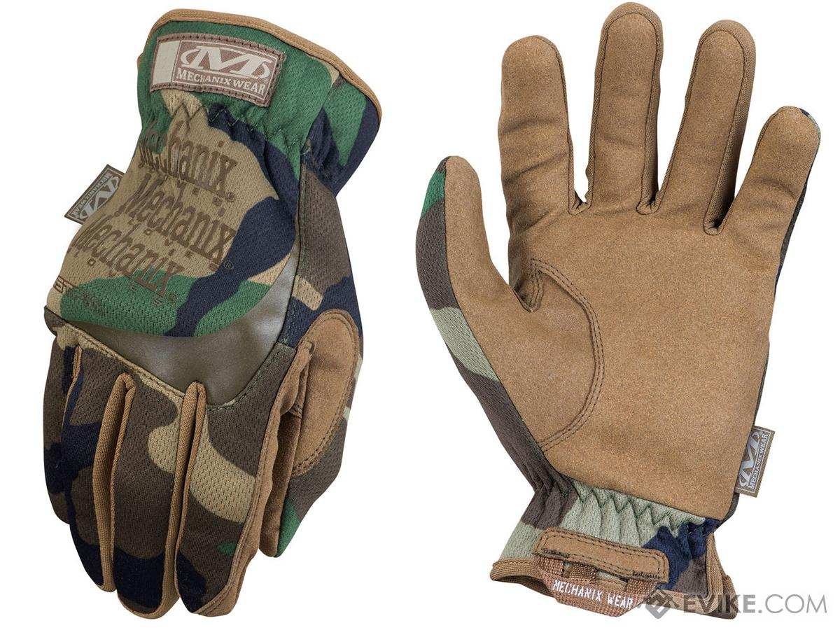 Mechanix FastFit Tactical Gloves - Woodland (Size: Small)