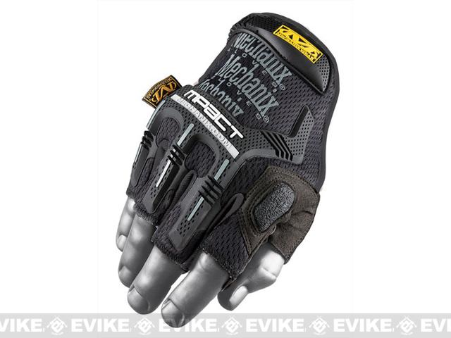 Mechanix Wear M-Pact Fingerless Gloves - Black - Medium/Large