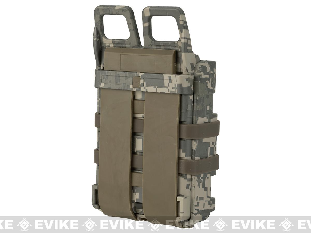 Matrix High Speed MOLLE Compatible Airsoft M4 Mag Carrier Set of 2 - ACU