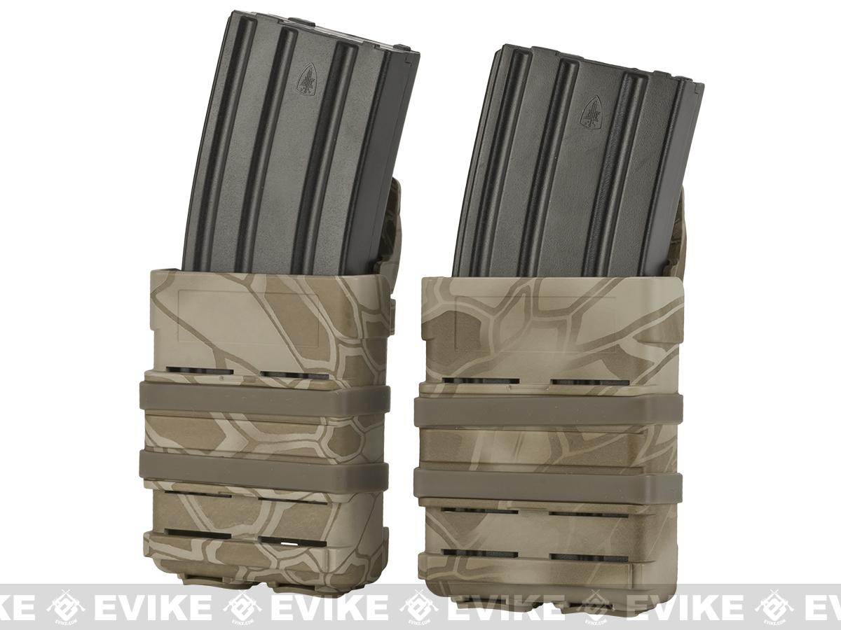 Matrix High Speed MOLLE Compatible Airsoft M4 Mag Carrier Set of 2 - Arid Serpent