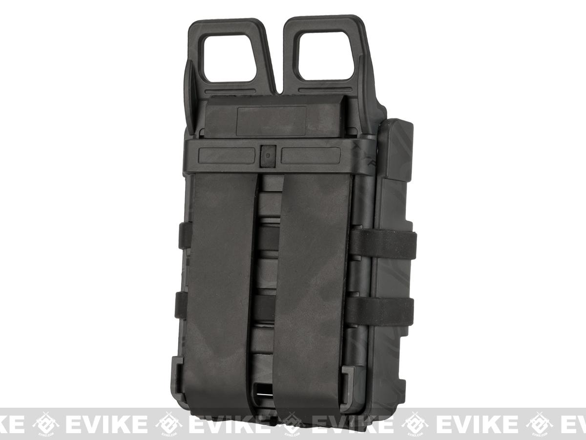Matrix High Speed MOLLE Compatible Airsoft M4 Mag Carrier Set of 2 - Urban Serpent