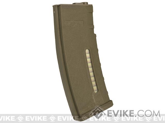 Evike.com BAMF 190rd Polymer Mid-Cap Magazine for M4 / M16 Series Airsoft AEG Rifles - Tan (10 pack)