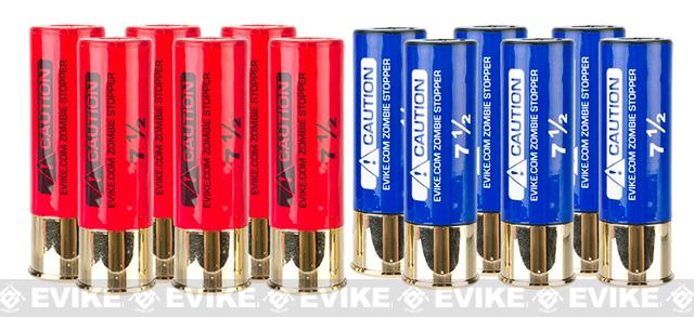 Evike Zombie Stopper 30 Round Shells for Multi & Single-Shot Airsoft Shotguns - 12 Pack