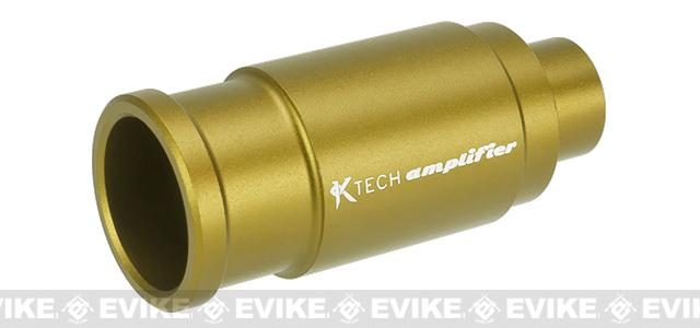 K-Tech Airsoft Machined Aluminum Airsoft Amplifier - Matte Gold (14mm Negative)