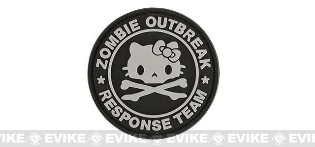Zombie Outbreak Kitty Response Team 60mm PVC Hook and Loop Patch - Black