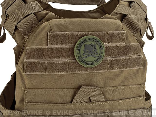 Zombie Outbreak Kitty Response Team 60mm PVC Hook and Loop Patch - Green