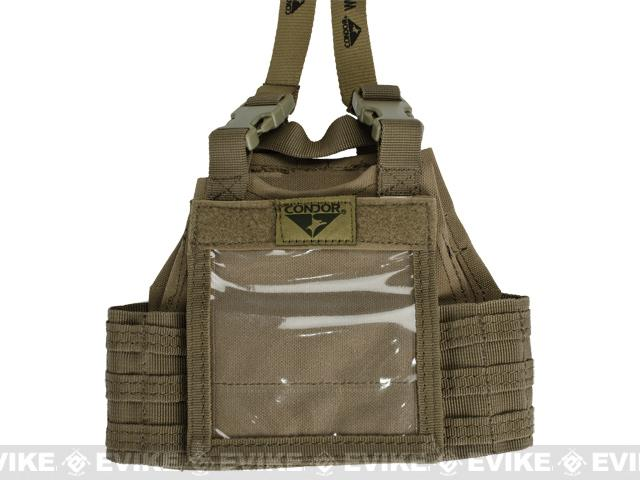 Condor Mini Exo Plate Carrier ID Panel - Tan