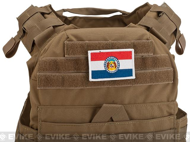 Evike.com Tactical Embroidered Flag Patch (State: Missouri The Show Me State)