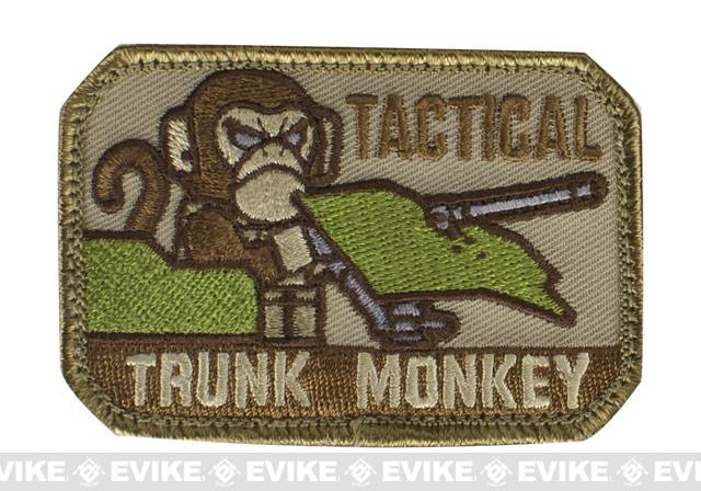 Mil-Spec Monkey Tactical Trunk Monkey Hook and Loop Patch - Desert