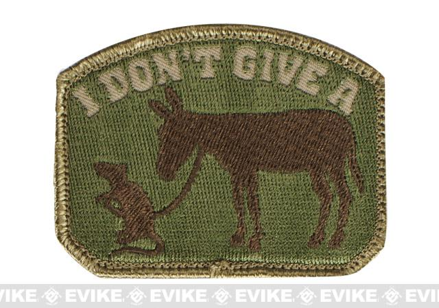 Mil-Spec Monkey I Don't Give A Rat's Ass Patch - Multicam