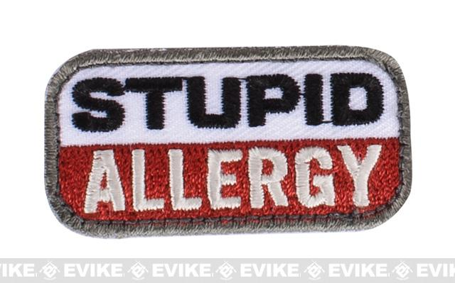 Mil-Spec Monkey Stupid Allergy Hook and Loop Patch - Medical