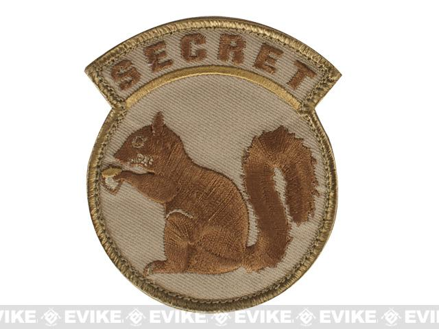 Mil-Spec Monkey Secret Squirrel Hook and Loop Patch - Desert