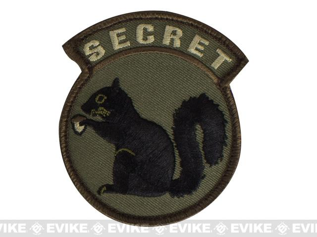 Mil-Spec Monkey Secret Squirrel Hook and Loop Patch - Forest