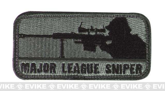 Mil-Spec Monkey Major League Sniper Hook and Loop Patch - ACU Dark