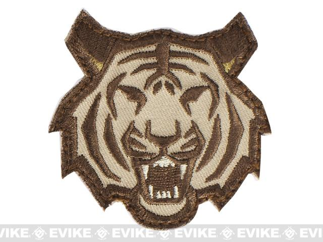 Mil-Spec Monkey Tiger Head Hook and Loop Patch - Arid