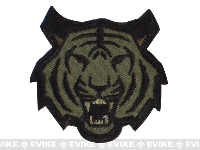 Mil-Spec Monkey Tiger Head Hook and Loop Patch - Forest