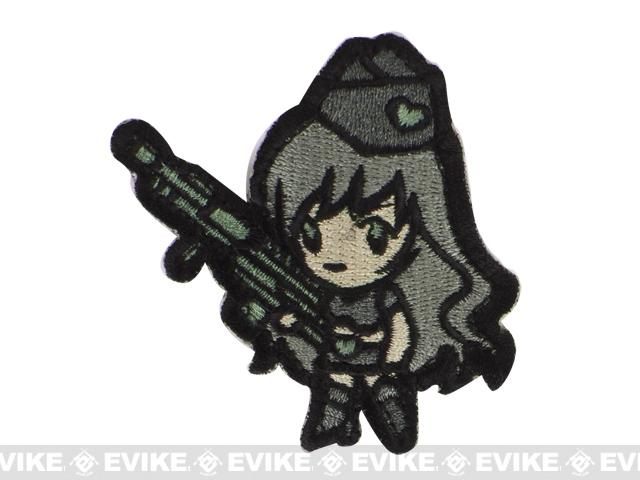 Mil-Spec Monkey Gun Girl1 Hook and Loop Patch - ACU