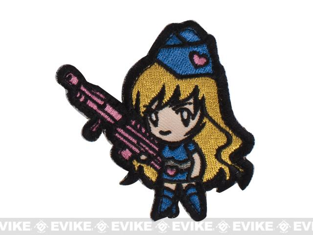 Mil-Spec Monkey Gun Girl1 Hok and Loop Patch - Blue