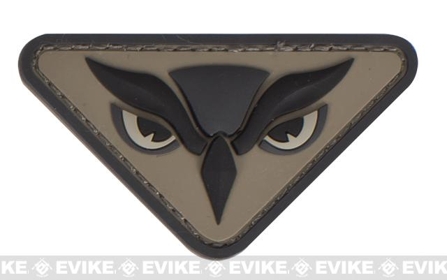 Mil-Spec Monkey Owl Head PVC Patch - ACU