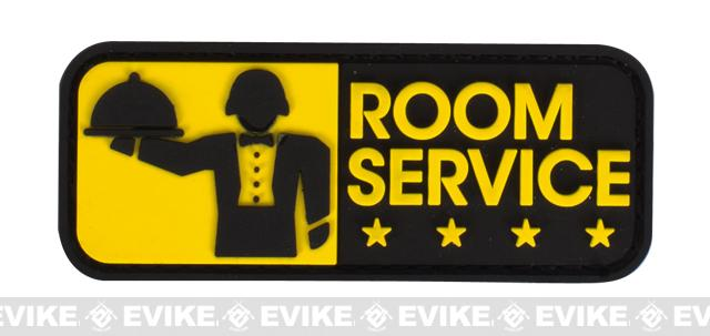Mil-Spec Monkey Room Service PVC Hook and Loop Patch - Full Color