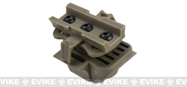 Light Mount for Airsoft Bump Helmets Series - Dark Earth
