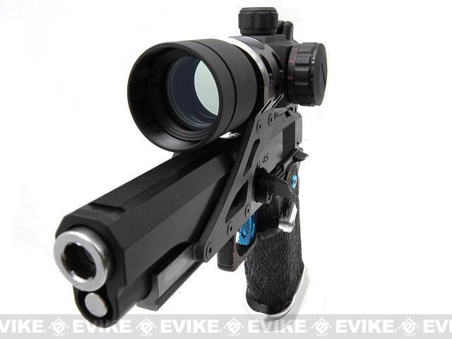 Graphite Aimpoint Style 30mm Scope Sight Mount for HI-CAPA Series Airsoft GBB - Silver