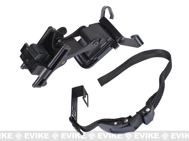 AN/PVS Type NVG Night Vision Helmet Mount for Airsoft  - Black