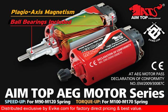 AIM High Performance Airsoft AEG Tornado Speed-Up Motor (Long Type)