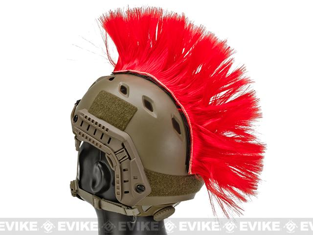 The Tacti-Cool Helmet Mohawk by Matrix - (Color: Red)
