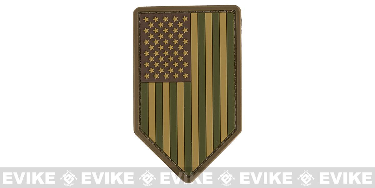 Mil-Spec Monkey PVC Vertical US Flag Patch - Multicam