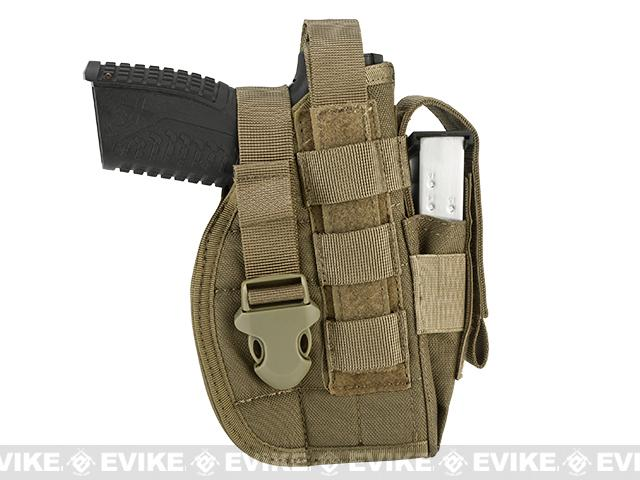 Avengers MOLLE Tactical Pistol Holster - Coyote Brown