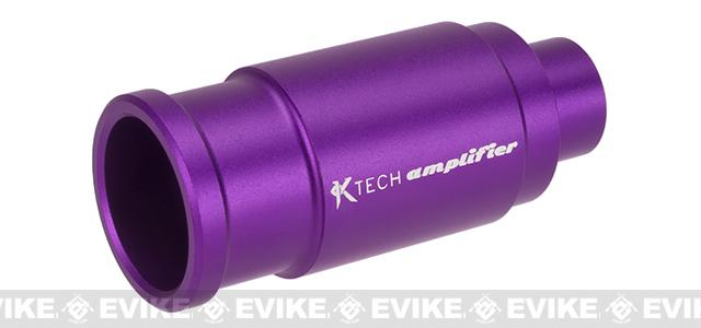 K-Tech Airsoft Machined Aluminum Airsoft Amplifier - Matte Purple (14mm Negative)