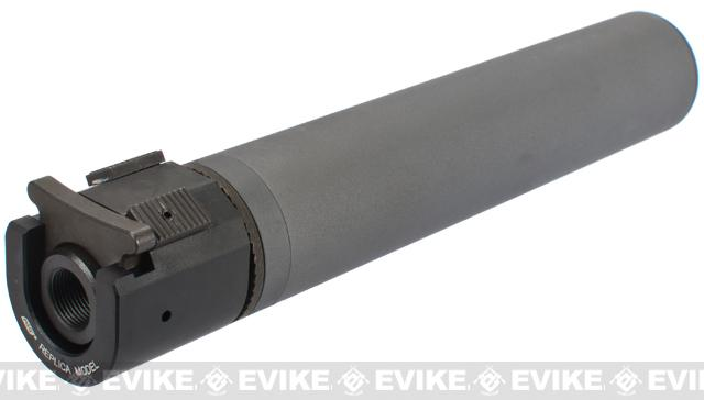 B&T Rotex-IIIA Mock Silencer for M4 Series Airsoft Rifles - Grey