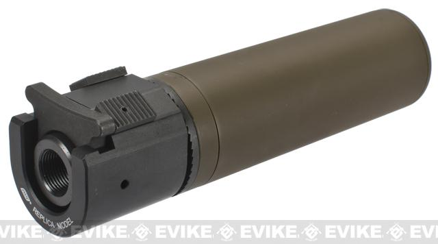 B&T Rotex-IIIA Compact Mock Silencer for M4 Series Airsoft Rifles - Tan