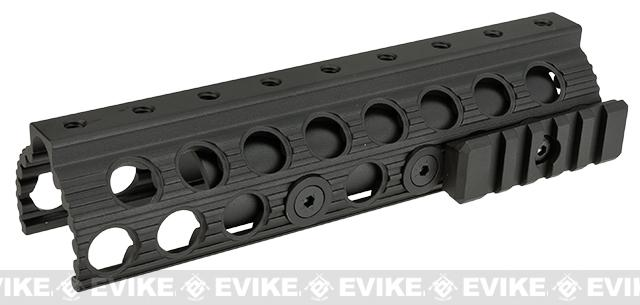 G&P Railed Handguard for Marui Type Airsoft Shotguns (Type B) - Black