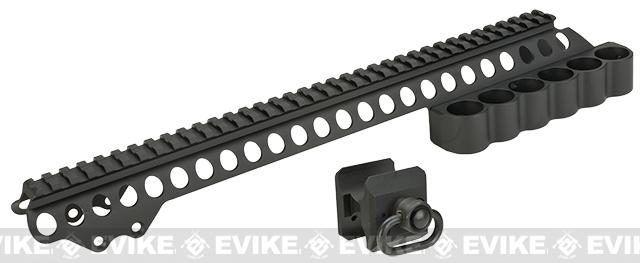 G&P Shotshell Receiver Rail for Tokyo Marui 870 Series Airsoft Shotguns - Medium